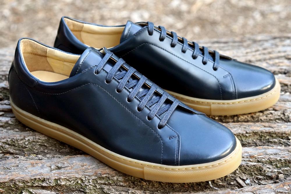 Кроссовки Epaulet Shell Cordovan темно-синего цвета Navy