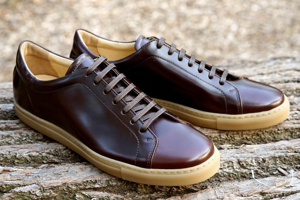 Теннисные кроссовки Epaulet Shell Cordovan коричневого цвета Cigar