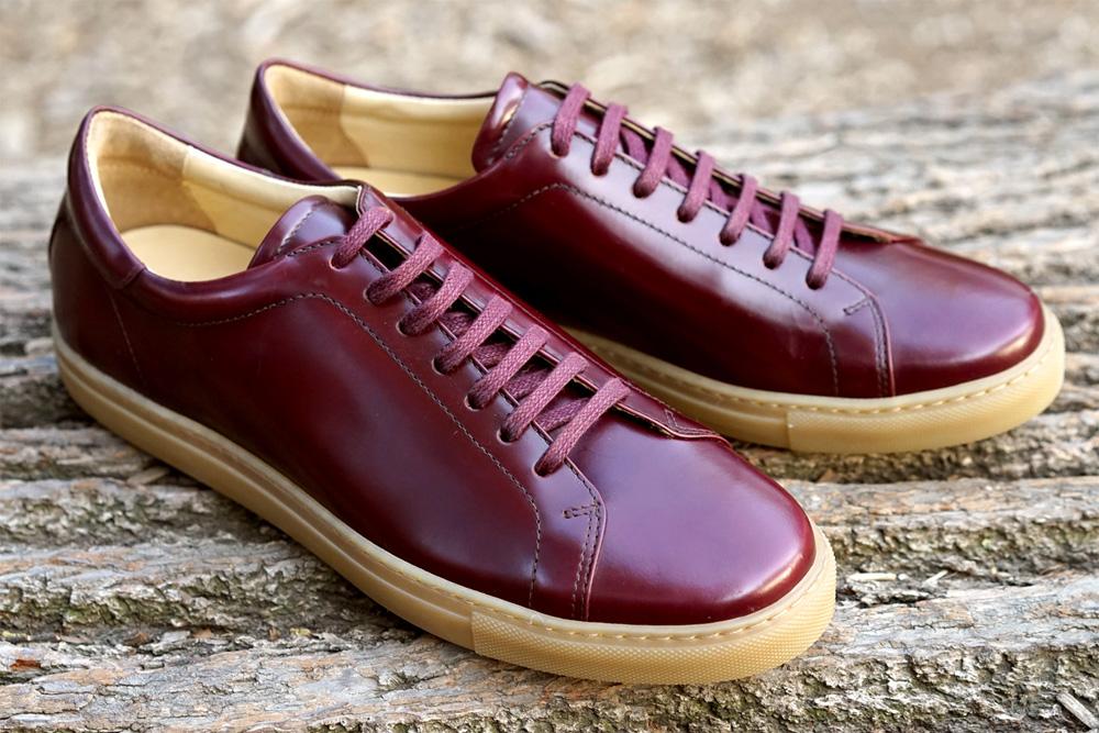 Повседневные мужские кроссовки Epaulet Shell Cordovan темно-красного цвета Oxblood