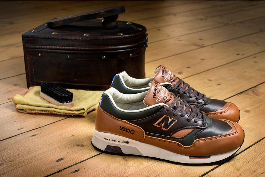 Английские кроссовки New Balance M1500GMB классических цветов коричневый-кордован-тан