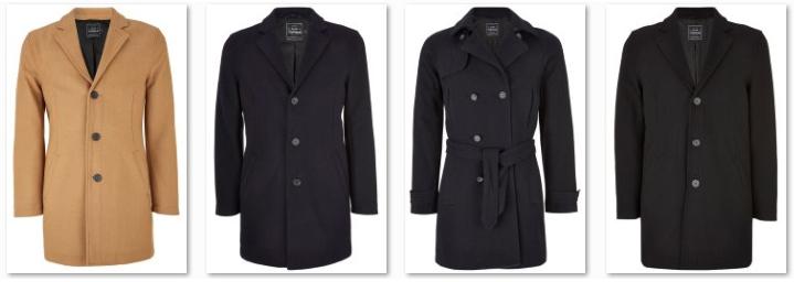 Мужские шерстяные пальто Topman на зиму