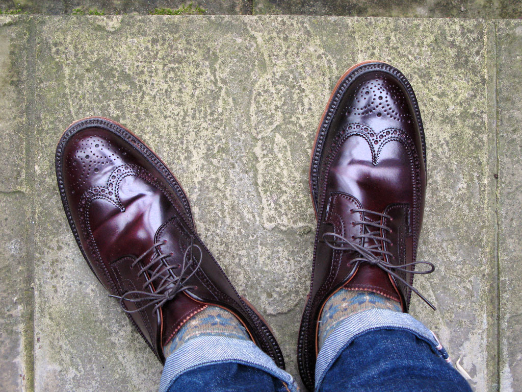 Ботинки из кордована Horween цвета Color 8