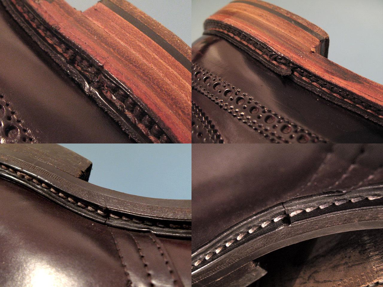 Сравнительное качество рантов обуви Alden и Tricker's