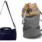 Слева-направо: A.P.C. Dduffel Bag, Hickey Sailor Bag