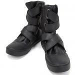 Чёрные кроссовки на липучках Diet Butcher Slim Skin