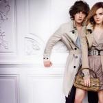 Джордж Крэйг и Эмма Уотсон в рекламе весенне-летней коллекции Burberry 2010