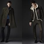 Плащ-реглан и кожаная куртка из предосенней коллекции 2010 Burberry Prorsum