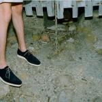 Мужские туфли из синей замши на креповой подошве