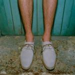 Светлые замшевые туфли Mr. Hare