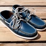 Синие лодочные туфли Yuketen