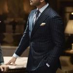 Полосатый «банкирский» костюм Kiton