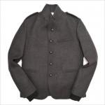 Серый шерстяной милитари-пиджак от Dsquared2