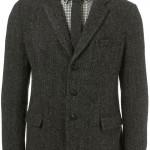 Мужской пиджак из твида на трех пуговицах, Harris Tweed x Topman