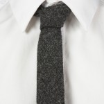 Узкий серый галстук из шерсти, Harris Tweed x Topman
