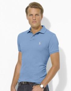 Голубая рубашка поло, Polo Ralph Lauren