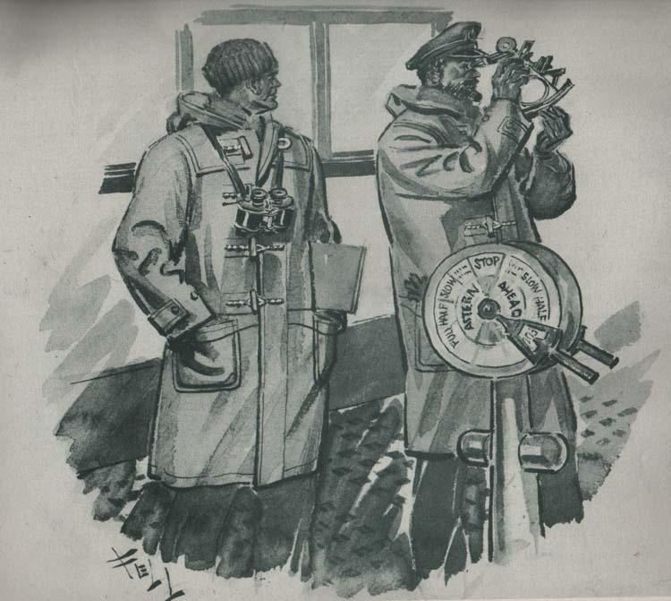 Моряки военно-морского флота в пальто дафлкот