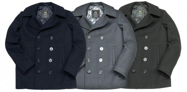 Двубортные пальто-бушлаты (pea coat)