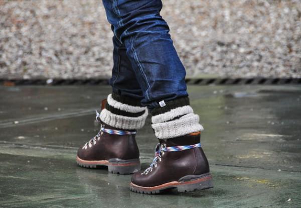Горные ботинки Visvim Hiking Boots, высокие носки