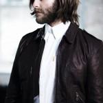Черная кожаная куртка и белая рубашка, Ben Sherman Modern Classic