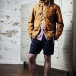 Куртка с капюшоном желтая, шорты, Ben Sherman Modern Classic
