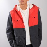 Красно-синяя мужская куртка-парка, Universal Works