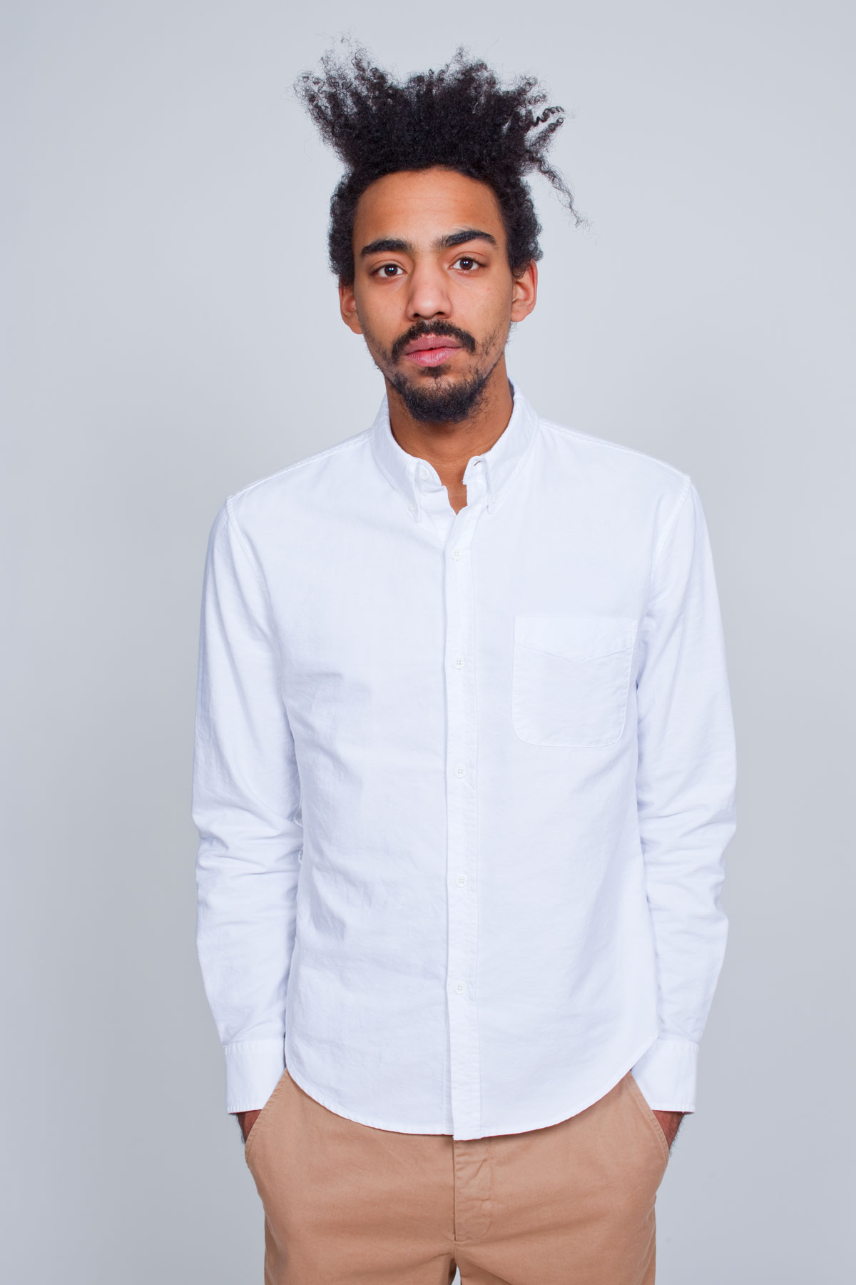 Белая классическая мужская рубашка оксфорд, Band of Outsiders