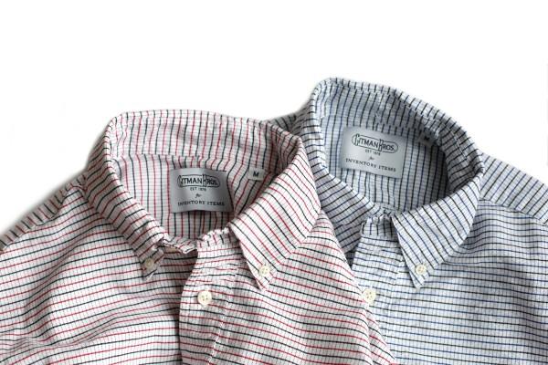 Оксфордские рубашки в клетку Gitman Vintage
