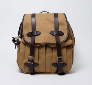 Мужской рюкзак из водонепроницаемого хлопка песочного цвета, Filson