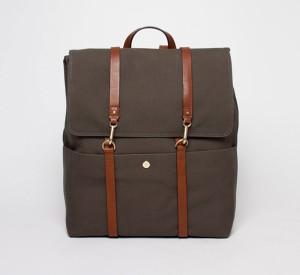 Мужской рюкзак из плотного хлопка зеленого цвета, Mismo