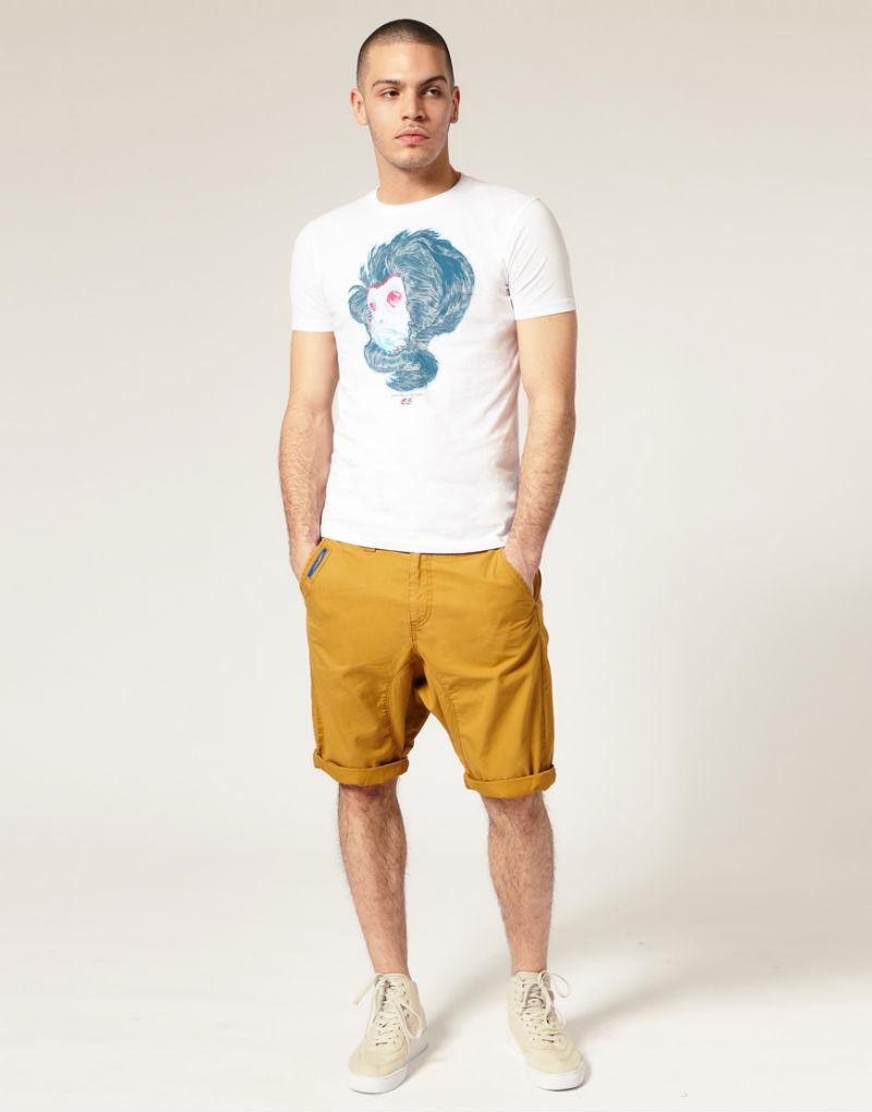 Мужские шорты горчичного цвета 55DSL