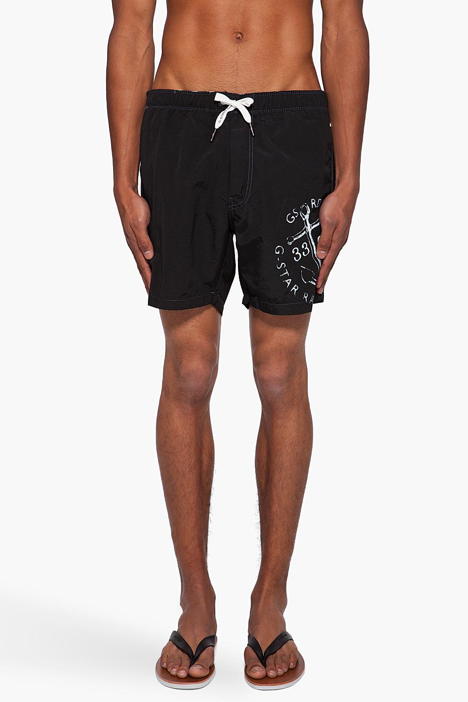Мужские шорты для плавания с принтом, G-Star