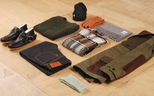 Набор мужской одежды и аксессуаров для создания зимнего образа