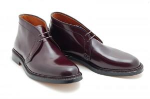 Мужские ботинки chukka boots из лошадиной кожи Shell Cordovan цвета #8 на двойной кожаной подошве, Alden