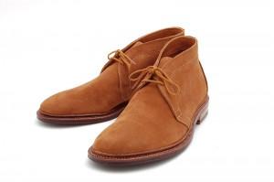 Мужские ботинки чукка из замши табачного цвета, Alden