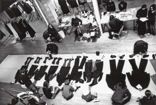 Подготовка к показу коллекции Yohji Yamamoto