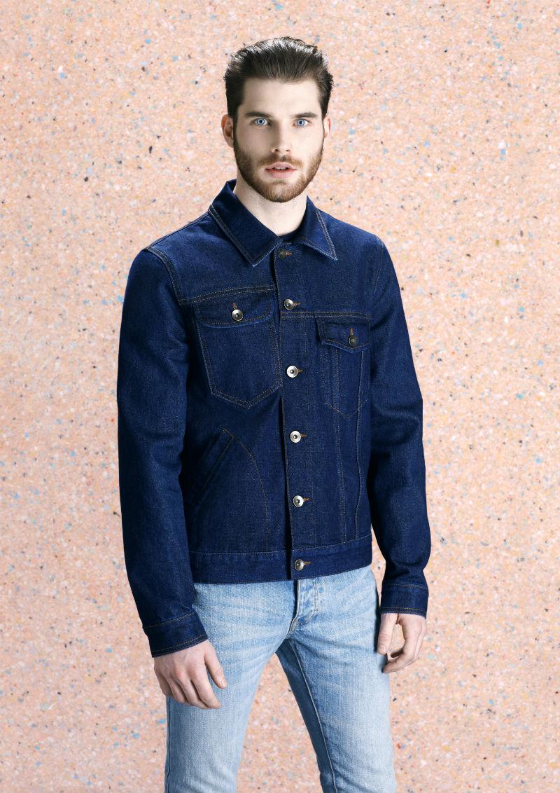 Мужская джинсовая куртка из сырого денима цвета индиго, Mark McNairy