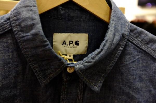 Мужская рубашка из ткани шамбре, A.P.C. x Carhartt
