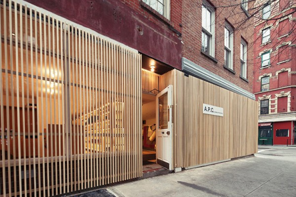 Нью-Йоркский магазин A.P.C. в Вест-Виллидже