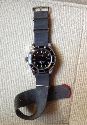 Мужские часы Rolex Submariner на нейлоновом ремешке нато