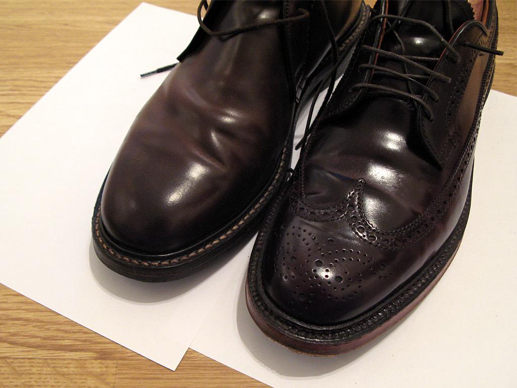 Заломы на туфлях из кордована Horween и Comipel