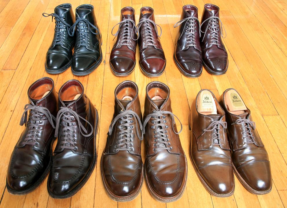 Ботинки Alden из кордована разных цветов