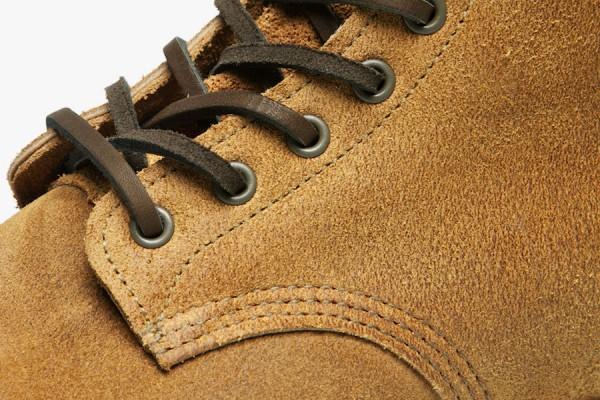 Зеленые кожаные шнурки ботинок Red Wing Munson Boot из замши цвета Hawthorne