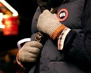 Мужские серые вязаные шерстяные перчатки Margaret Howell
