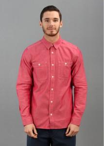Рабочая мужская рубашка из красного шамбре, Carhartt