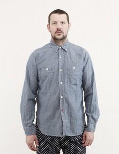 Рабочая рубашка из синего шамбре, Engineered Garments