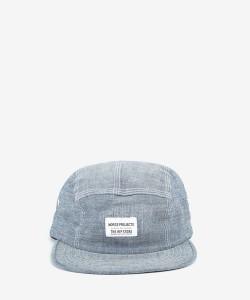 5-ти панельная кепка из голубого шамбре Norse Projects для магазина Hipstore