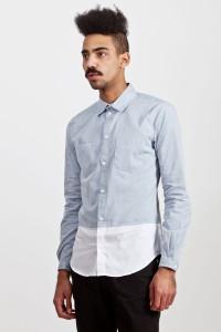 Рубашка из бело-голубого шамбре, Carven