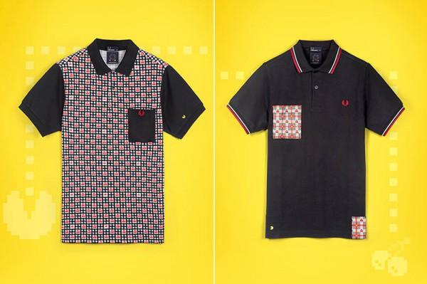 Черная рубашка-поло Fred Perry с героями игры PAC-MAN