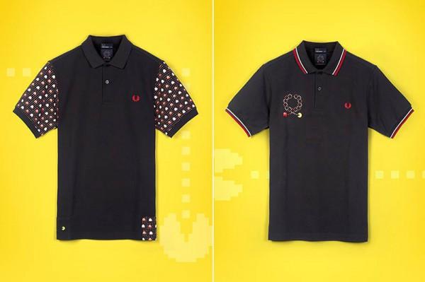 Черная рубашка-поло Fred Perry с рисунками Пакмана