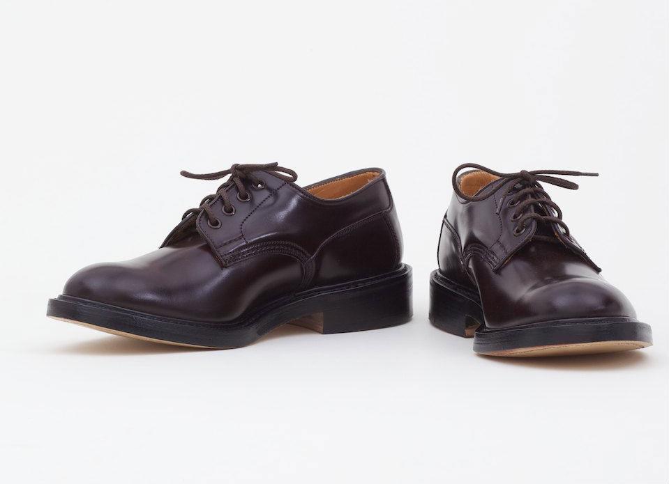 Мужские ботинки Tricker's из кожи кордован бордового цвета